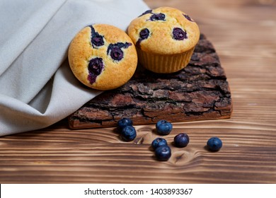 muffins with blueberry on the table