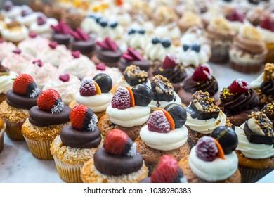"""Muffins at Chocolate Exhibition, """"Salon du Chocolat"""", Bruxelles, Belgium"""