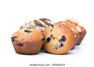 Muffins isolated on a white background