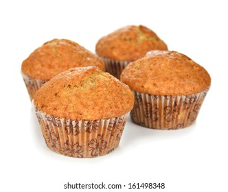 muffins on a white background