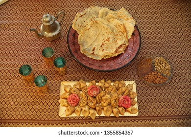 Mufleta is a tradtional pancake like food, eaten at the end of the Jewish holiday of Passover according to Moroccan tradition