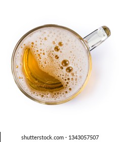 Mug of beer with bubble on glass