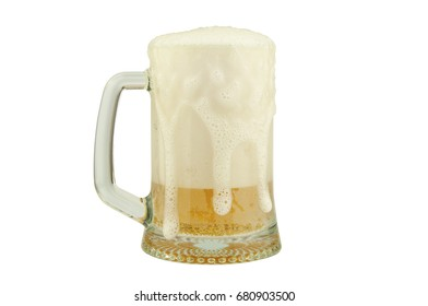 Mug of beer with foam