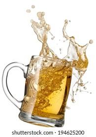 Mug with beer splash