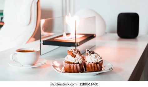 Mug cake with the coffee