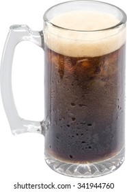 Mug with cola or another dark soda
