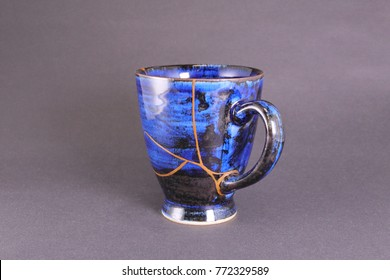 Mug cup repaired with gold