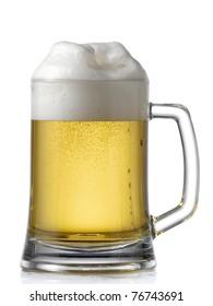 Mug full with beer