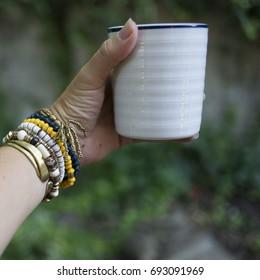 mug in hand
