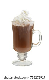 mug hot chocolate with whipped cream