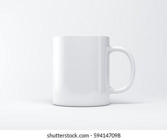 Mug mockup 3d rendering