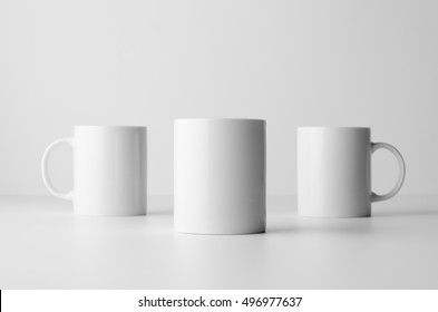 Mug Mock-Up - Three Mugs