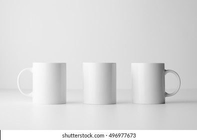 Mug Mock-Up - Three Mugs