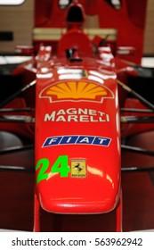 MUGELLO, IT, November, 2008: Particular of Modern Ferrari F1 into Box at Mugello Circuit in italy during Finali Mondiali Ferrari 2008. Italy