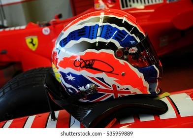 MUGELLO, IT, November, 2011: Ferrari F1 in the Pits during Finali Mondiali Ferrari 2011 into the mugello circuit in italy