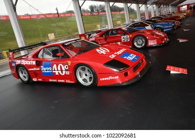 MUGELLO, IT, October, 2017: Vintage Ferrari F40 GT at Paddock Show of Ferrari Anniversary 1947-2017 in Mugello Circuit at Finali Mondiali Ferrari 2017. Italy