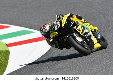 Mugello - ITALY, 1 JUNE: Australian Ducati Alma Pramac Team Rider Jack Miller in action at 2019 GP of Italy of MotoGP on June in Italy