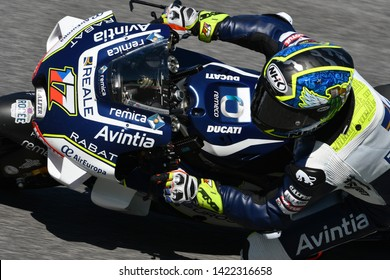 Mugello - Italy, 1 June: Czech Ducati Reale Avintia Racing Team rider Karel Abraham in action at 2019 GP of Italy of MotoGP on June 2019 in Italy