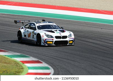MUGELLO, ITALY - 13 July 2018:  Comandini Stefano and Krohn Jesserun with BMW M6 GT3 of BMW Padova Team during GT Italian Championship 2018 at Mugello Circuit in Italy.