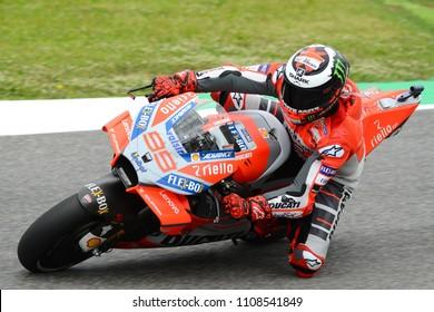 MUGELLO - ITALY, 2 JUNE: Spanish Ducati Team rider Jorge Lorenzo at 2018 GP of Italy of MotoGP on June, 2018. Italy