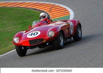 MUGELLO, ITALY - 2008: Unknown run with Old Vintage Maserati on Mugello Circuit at the Event of Ferrari Racing Days Year 2008, Italy