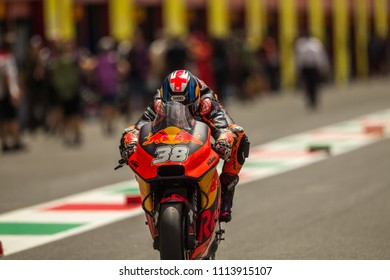 MUGELLO - ITALY, JUNE 1:  British KTM rider Bradley Smith at Oakley MotoGP of Italy at Mugello circuit on June 1, 2018