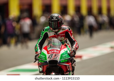 MUGELLO - ITALY, JUNE 1: British Aprilia rider Scott Redding at Oakley MotoGP of Italy at Mugello circuit on June 1, 2018