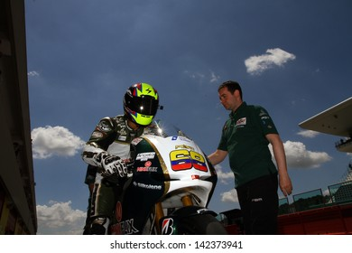 MUGELLO - ITALY, JUNE 1: Colombian rider Yonny Hernandez at 2013 TIM MotoGP of Italy at Mugello circuit on June 1, 2013