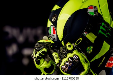 MUGELLO - ITALY, JUNE 1: Italian Yamaha rider Valentino Rossi at Oakley MotoGP of Italy at Mugello circuit on June 1, 2018