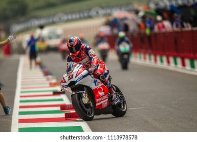 MUGELLO - ITALY, JUNE 1: Italian Ducati rider Danilo Petrucci at Oakley MotoGP of Italy at Mugello circuit on June 1, 2018