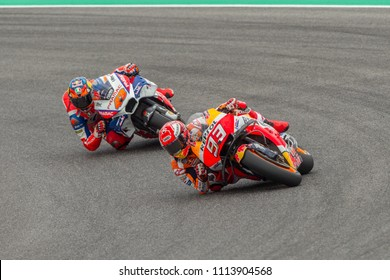 MUGELLO - ITALY, JUNE 1: Spanish Honda rider Marc Marquez at Oakley MotoGP of Italy at Mugello circuit on June 1, 2018