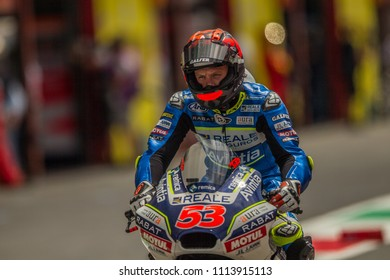 MUGELLO - ITALY, JUNE 1: Spanish Ducati rider Tito Rabat at Oakley MotoGP of Italy at Mugello circuit on June 1, 2018