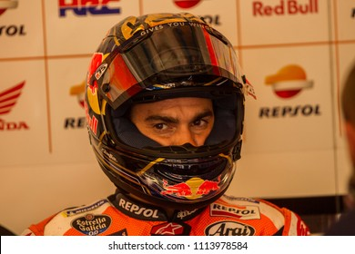 MUGELLO - ITALY, JUNE 1: Spanish Honda rider Dani Pedrosa at Oakley MotoGP of Italy at Mugello circuit on June 1, 2018
