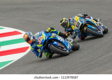 MUGELLO - ITALY, JUNE 1: Spanish Suzuki rider Alex Rins at Oakley MotoGP of Italy at Mugello circuit on June 1, 2018