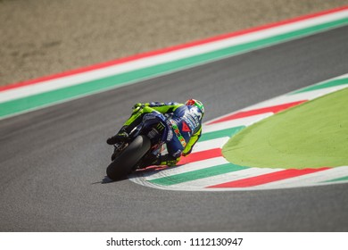 MUGELLO - ITALY, JUNE 2: Italian Yamaha rider Valentino Rossi at Oakley MotoGP of Italy at Mugello circuit on June 2, 2018
