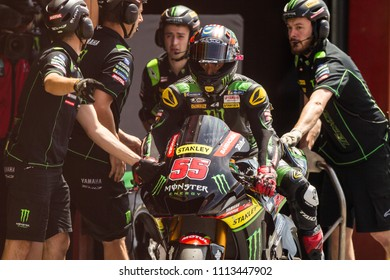 MUGELLO - ITALY, JUNE 2: Malaysian Yamaha rider Hafizh Syahrin at Oakley MotoGP of Italy at Mugello circuit on June 2, 2018