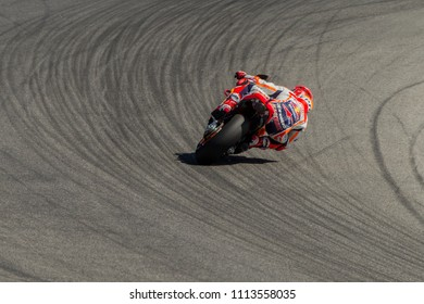 MUGELLO - ITALY, JUNE 2: Spanish Honda rider Marc Marqwuez at Oakley MotoGP of Italy at Mugello circuit on June 2, 2018