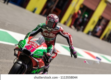 MUGELLO - ITALY, JUNE 2: Spanish Aprilia rider Aleix Espargaro at Oakley MotoGP of Italy at Mugello circuit on June 2, 2018