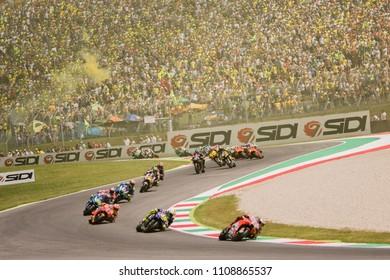 MUGELLO - ITALY, JUNE3: Spanish Ducati rider Jorge Lorenzo wins at Oakley MotoGP of Italy at Mugello circuit on June 3, 2018