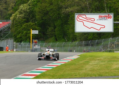MUGELLO, ITALY - MAY 2012: Kamui Kobayashi of Sauber F1 Team races on training session in Mugello Circuit. Italy.