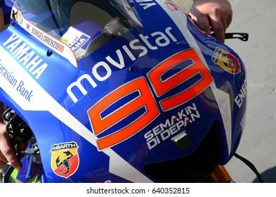 Mugello - Italy, May 29: Yamaha M1 MotoGP in the Pitlane at 2014 TIM MotoGP GP of Italy on May 29, 2014.