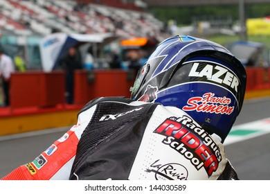 MUGELLO - ITALY, MAY31: Belgian Moto2 rider Xavier Simeon at 2013 TIM MotoGP of Italy at Mugello circuit on May 31, 2013