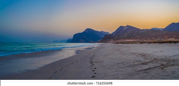 Mughsayl Beach Sunset in Salalah, Oman