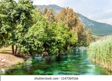 Mugla, Turkey, 14 May 2012: Azmak Stream, Gokova Bay, Akyaka
