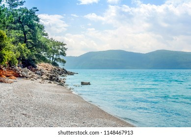 Mugla, Turkey, 15 May 2012: Gokova Bay, Akyaka Beach
