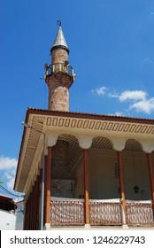Mugla, Turkey - August 7, 2012. Ulu cami mosque, dating from 1344, in Mugla city, Turkey.