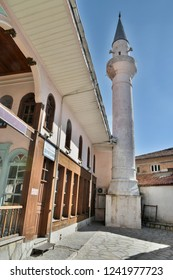 Mugla, Turkey - November 6, 2018. Seyh cami mosque in Mugla city, Turkey, dating from 1565.