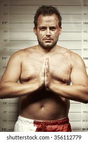 Mugshot photo of dangerous man