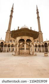 Muhammad Ali Pasha  tomb in the courtyard of the Mohamed Ali mosque.