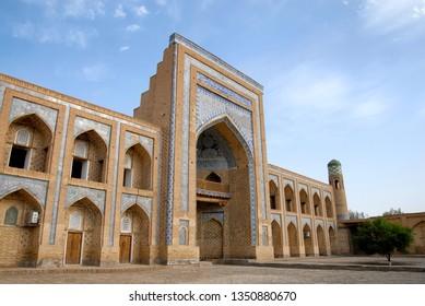 Muhammad Rahim Khan II Madrasah (1871–1876, one of the biggest madrasahs of the city), Itchan Kala (old or inner town). Khiva town, Uzbekistan.
